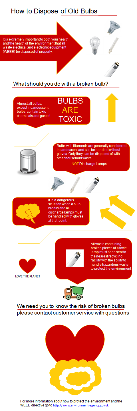 How to Dispose of Old Bulbs Infographic